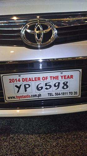 フィリピンで目撃したナンバープレート